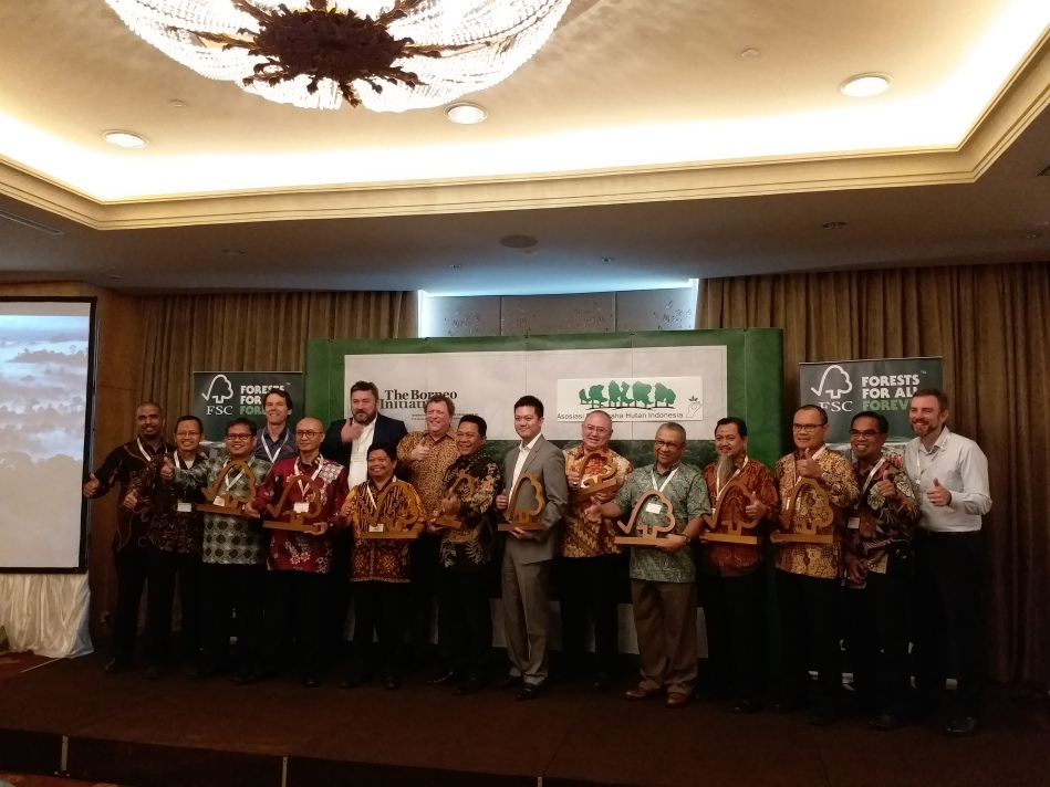 Awarding of FSC Trophy from TBI to 10 Indonesia FSC CH