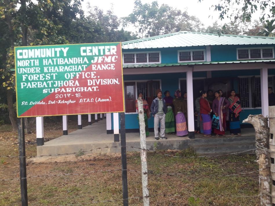 Assam 10. Visit to Hathibandha JFMC Community Centre, Parbatjohra (Assam)