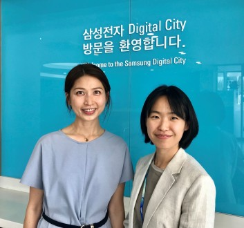 Pictured left: Hyein Jang, Samsung Electronics Sustainability Department